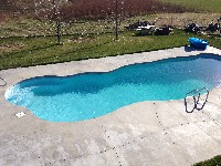 Taj Mahal Deep Fiberglass Pool in Salt Lake City, UT